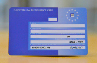 EHIC CARD NHS
